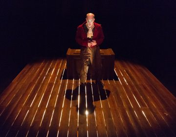 Anthony Lawton as the storyteller in Lantern Theater Company's production of