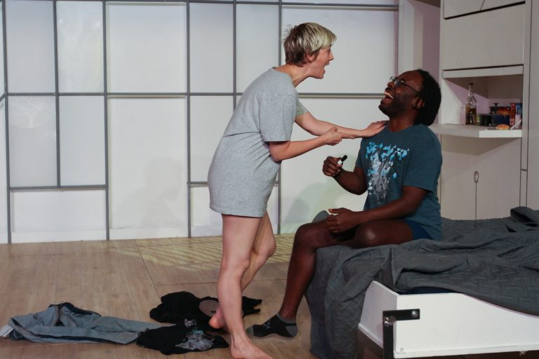 Mary Tuomanen and James Ijames in Theatre Exile's production of