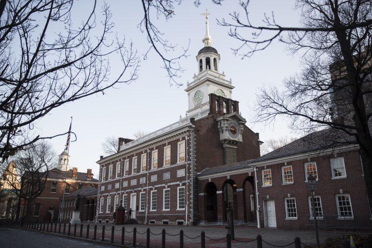 Shown is Independence Hall in Philadelphia, Tuesday, Dec. 19, 2017. (Matt Rourke/AP Photo)