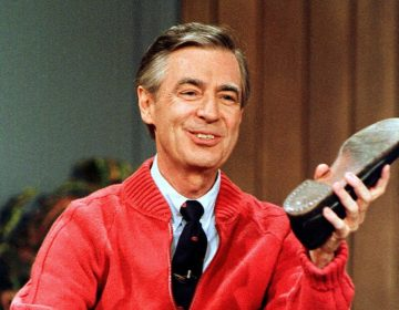 Mr. Rogers, subject of the 2018 documentary Won't You Be My Neighbor, rehearsing for a taping of his television show Mr. Roger's Neighborhood in 1989. (AP Photo/Gene J. Puskar, File)