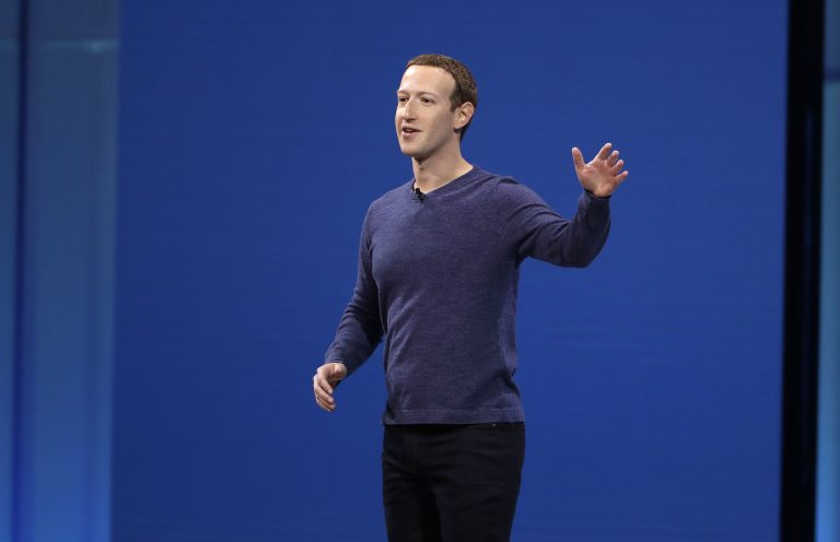 Facebook CEO Mark Zuckerberg makes the keynote address at F8, Facebook's developer conference, Tuesday, May 1, 2018, in San Jose, Calif. (Marcio Jose Sanchez/AP Photo)