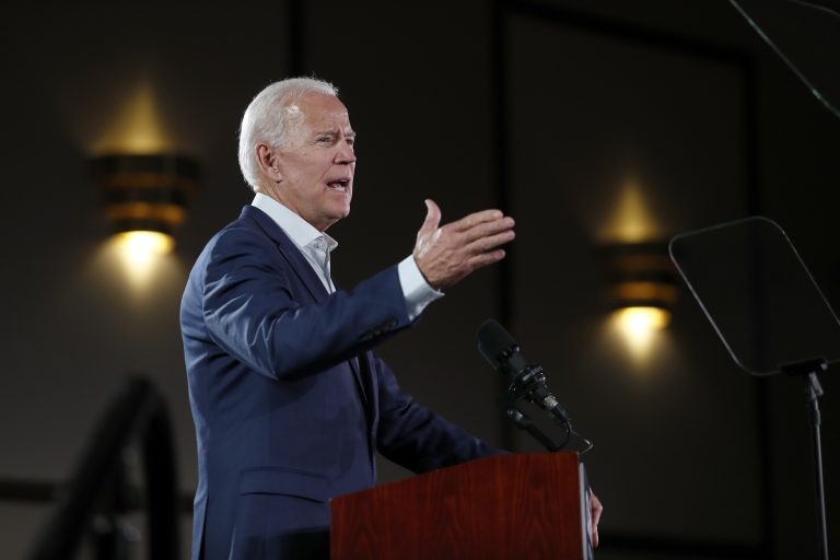 Former Vice President Joe Biden speaks during a campaign rally for incumbent Sen. Claire McCaskill, D-Mo., Wednesday, Oct. 31, 2018, in Bridgeton, Mo. (Jeff Roberson/AP Photo)