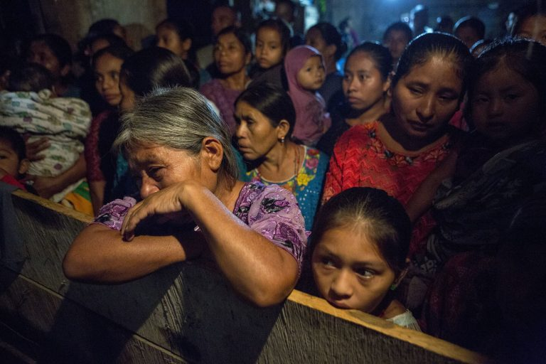 Elvira Choc grieves as she attends a memorial service for her 7-year-old granddaughter Jakelin Caal Maquin, in San Antonio Secortez, Guatemala, Monday, Dec. 24, 2018. The body of the 7-year-old girl who died while in the custody of the U.S. Border Patrol was handed over to family members in her native Guatemala on Monday for a last goodbye. (Oliver de Ros/AP Photo)