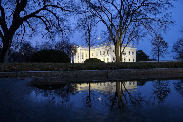 The North Portico of the White House is seen, Friday, Dec. 28, 2018, in Washington. The partial government shutdown will almost certainly be handed off to a divided government to solve in the new year, as both parties traded blame Friday and President Donald Trump sought to raise the stakes in the weeklong impasse. (Alex Brandon/AP Photo)