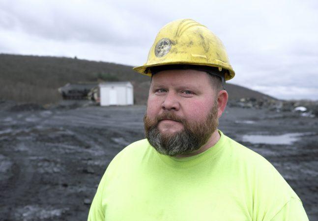 Charlie Gasperetti, of Mount Carmel, a loader operator with Blaschak Coal Corporation at the company's new pit mine. (Matt Smith for Keystone Crossroads)