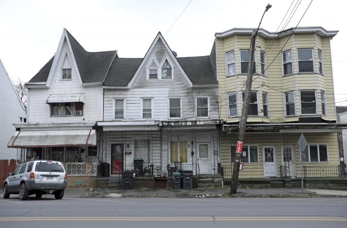 A December day on the streets of Mahanoy City, Pennsylvania. (Matt Smith for Keystone Crossroads)