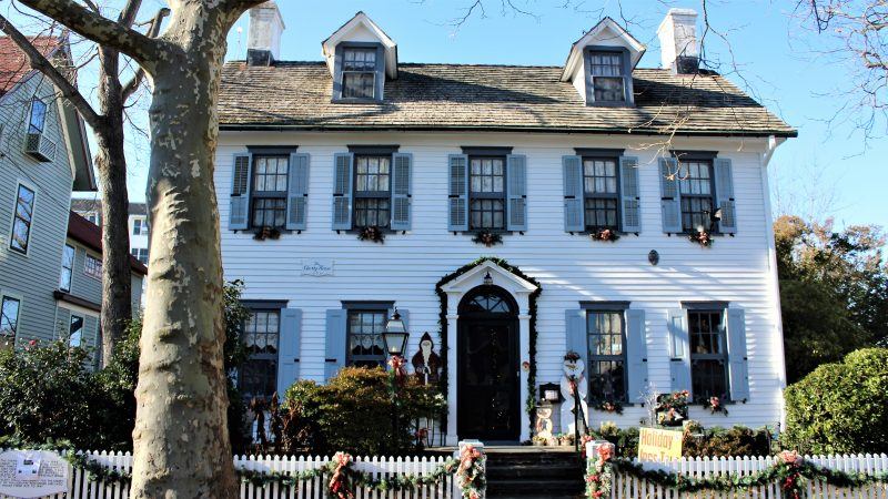 The Cherry House on Hughes Street, believed to have been built in 1849, is an elaborately decorated private home included on house tours in Cape May. (Bill Barlow/for WHYY)