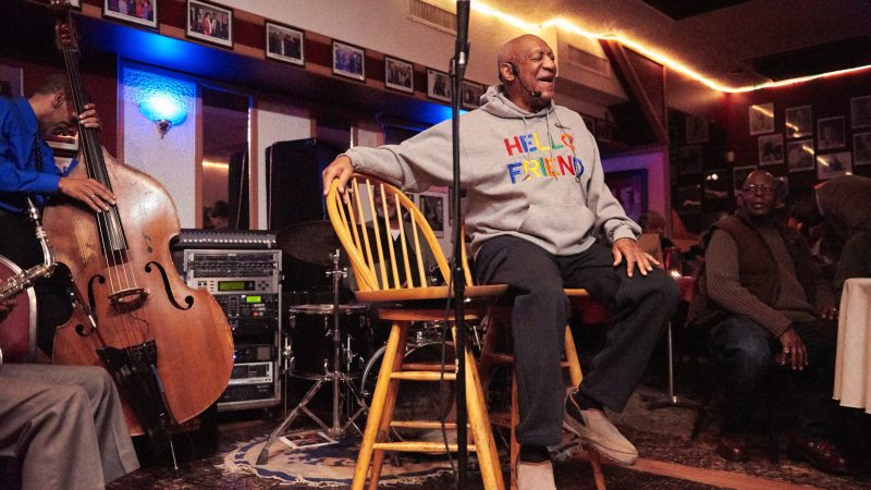 Bill Cosby makes a surprise stand-up appearance at LaRose Jazz Club in Philadelphia's Germantown neighborhood on Jan. 22, 2018. The comedian was later convicted of sexual assault charges and sentenced to three to 10 years in state prison. (Natalie Piserchio for WHYY)