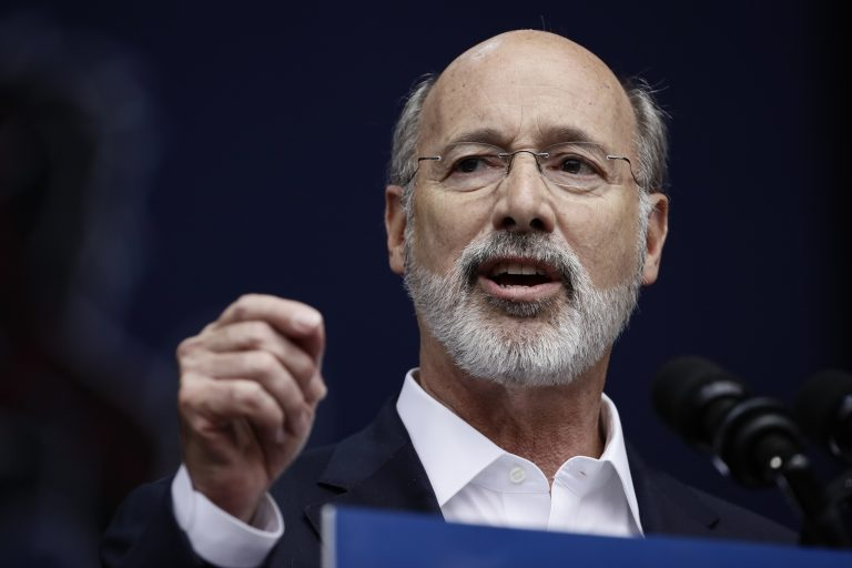 Gov. Tom Wolf speaks at a campaign rally for Pennsylvania candidates in Philadelphia, Friday, Sept. 21, 2018. (Matt Rourke/AP Photo)