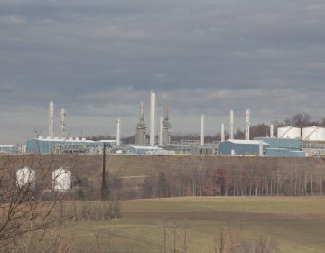 MarkWest's Houston gas processing plant in Washington County, Pa. (Reid R. Frazier/StateImpact Pennsylvania)
