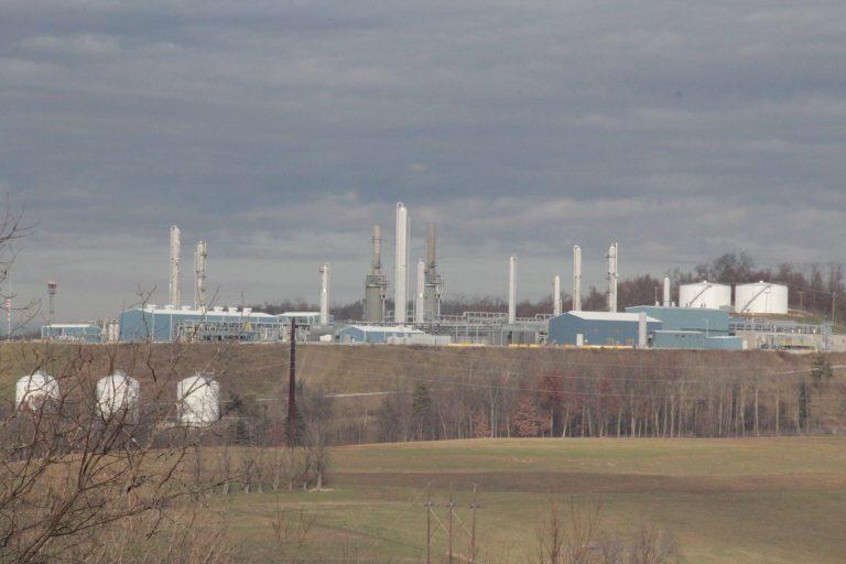 MarkWest's Houston gas processing plant in Washington County, Pa. (Reid R. Frazier/StateImpact Pennsylvania)