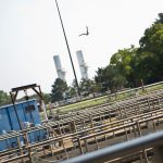 The Clean Water Act helped transform Philadelphia's southwest sewage treatment plant near the airport. Before regulations, sewage discharges into the Delaware river represented some of the worst pollutants, leading to a lack of oxygen and fish in the river. (Kimberly Paynter/WHYY)