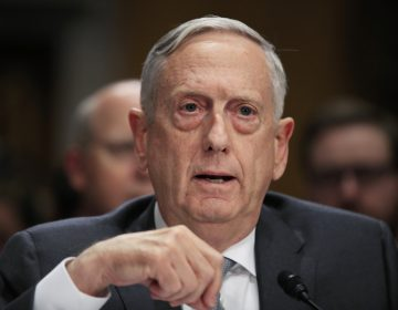 Secretary of Defense Jim Mattis testifying in October 2017 on Capitol Hill about immigrant military recruits (Manuel Balce Ceneta/AP Photo)