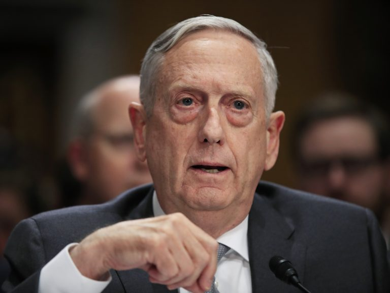 Secretary of Defense Jim Mattis testifying in October 2017 on Capitol Hill about immigrant military recruits (Manuel Balce Ceneta/AP Photo)