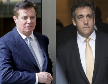 Court documents released Friday suggest that both former Trump campaign chairman Paul Manafort (left) and former Trump attorney Michael Cohen could end up in prison. (AP)