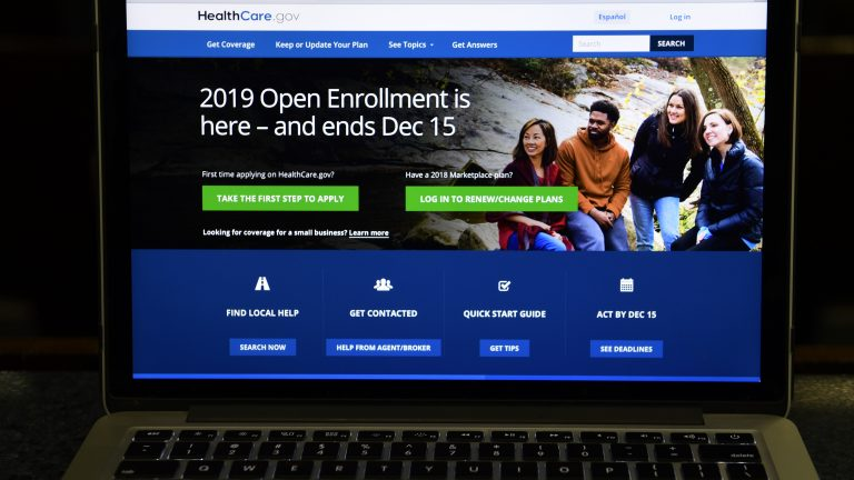 The federal website where consumers can sign up for health insurance under the Affordable Care Act is shown on a computer screen in Washington, D.C. (AP Photo)