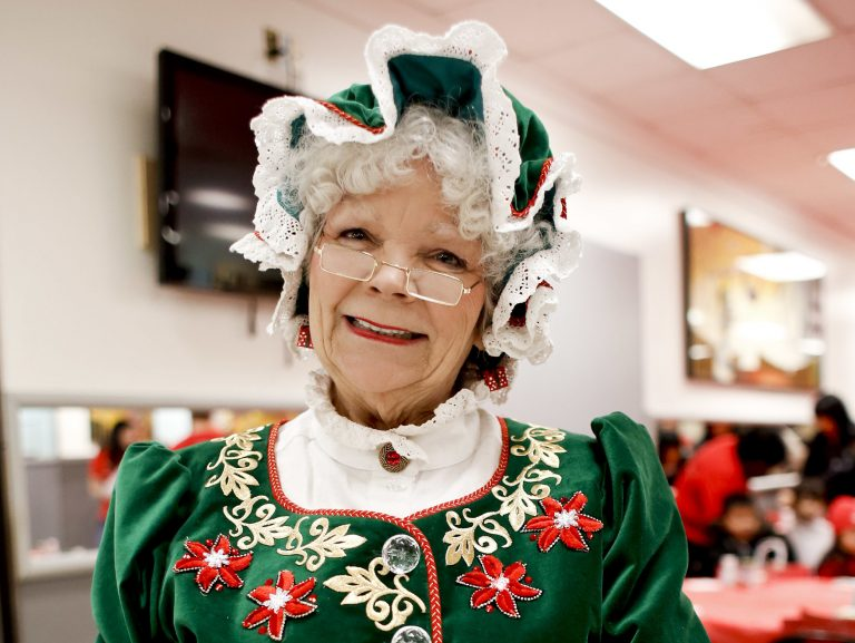 Mrs. Claus poses in 2012 in New York City. Five years ago,