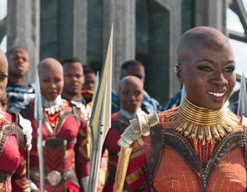 Ayo (Florence Kasumba, left) and Okoye (Danai Gurira) are members of the Dora Milaje, the elite female warriors of Wakanda, inBlack Panther.</em