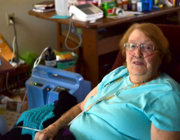 Charlotte Potts, who has a history of heart problems, lives within sight of Livingston Regional Hospital. After a recent stint there, she was discharged into the care of a home health agency, and now gets treatment in her apartment for some ailments. (Shalina Chatlania/WPLN)