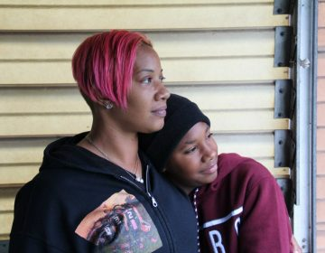 Collette Williams and her son SaVaughn, 13, live a few blocks from the Clairton Coke Works. (Reid R. Frazier/StateImpact Pennsylvania)