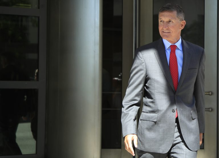 President Trump's national security adviser Michael Flynn leaves federal courthouse in Washington on July 10. Flynn has pleaded guilty to lying to the FBI and is scheduled to be sentenced later this month. (Manuel Balce Ceneta/AP)
