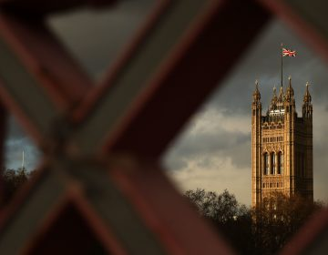 The Union Jack flies above the Palace of Westminster, the seat of Parliament in London. U.K. lawmakers are expected to decide soon the fate of a draft Brexit deal negotiated between Prime Minister Theresa May and the European Unio