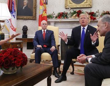 With a partial government shutdown on the horizon, President Trump and Democratic leaders had a heated exchange over border security and wall funding in front of reporters. (Mark Wilson/Getty Images)