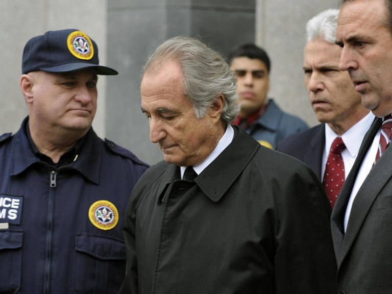 Disgraced Wall Street financier Bernard Madoff leaves U.S. Federal Court after a hearing on March 10, 2009 in New York. Ten years later, victims of his scam are still rebuilding their lives. (Getty Images)