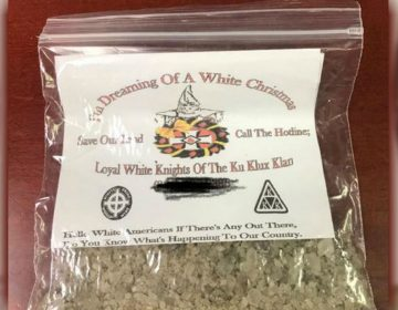 KKK recruitment fliers were recently found in parts of southern Delaware. (Courtesy the Harrington Police Department)