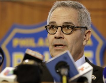 Philadelphia District Attorney Larry Krasner speaks to the media during a news conference, Thursday, Nov. 29, 2018, in Philadelphia. Philadelphia Police announced Thursday that one man has been arrested and another man is in custody in the killings of four people found shot to death in a basement last week. (AP Photo/Matt Slocum)