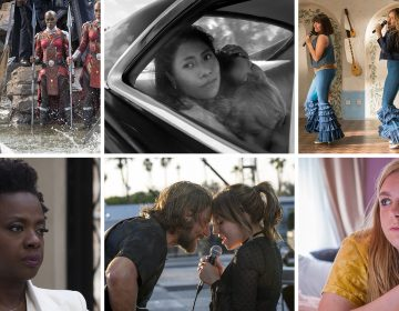Black Panther, Roma, Mamma Mia! Here We Go Again, Widows, A Star is Born and Eighth Grade all made NPR's favorite-movie list. (Top) Marvel Studios/Netflix/Universal Pictures; (bottom) 20th Century Fox/Warner Bros./A24