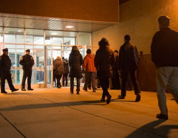 After racist letters and photos were circulated among students at Strath Haven High School, the Wallingford-Swarthmore School District held an informational meeting on Jan. 2, 2019. More than 400 residents showed up to listen and have their voices heard. (Emily Cohen for WHYY)