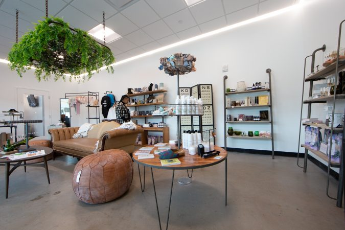 1776, a new co-working space has opened up in the Cherry Hill Mall. The space includes a small retail store (Courtesy PREIT)