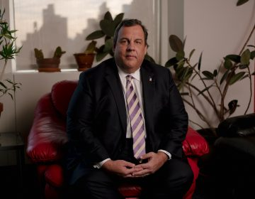 Former New Jersey Gov. Chris Christie's new book, Let Me Finish: Trump, the Kushners, Bannon, New Jersey, and the Power of In-Your-Face Politics, details his history with New Jersey politics and thoughts on the Trump administration. (Elias Williams for NPR)