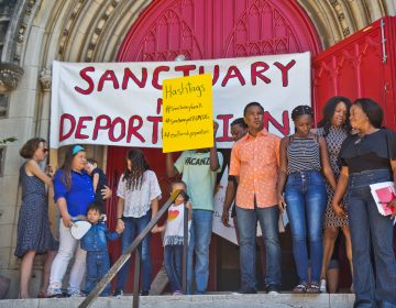 The Thompson and Reyes families took sanctuary at the First United Methodist Church of Germantown in September 2018. (Kimberly Paynter/WHYY)