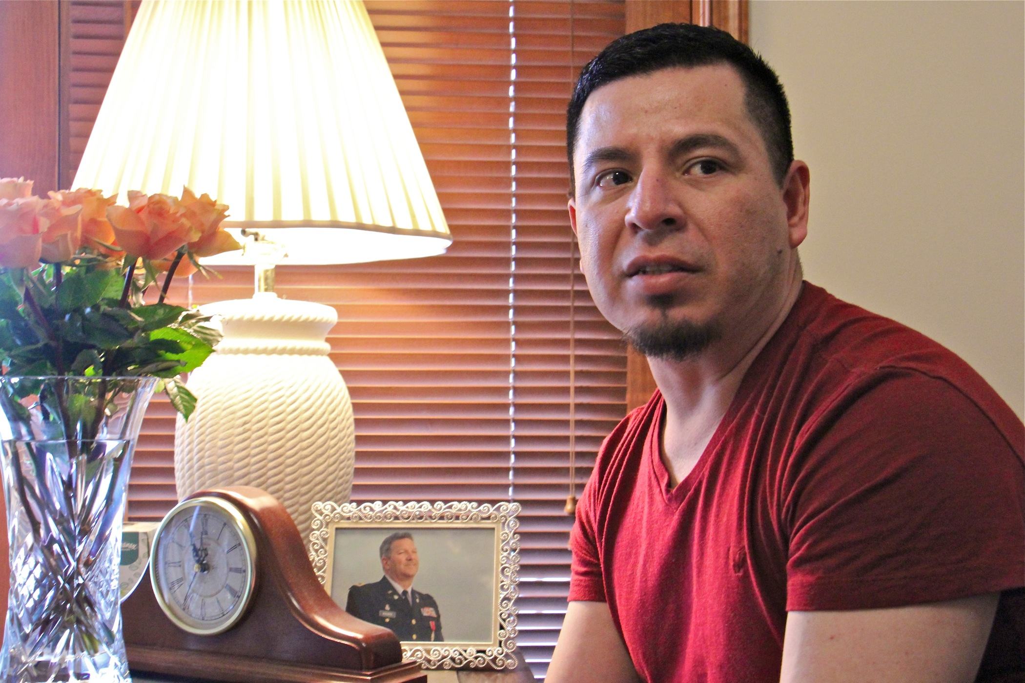 "Jose ""Ivan"" Nuñez Martinez was taken into custody in January, when he and his husband went to U.S. Citizenship and Immigration Services to begin the process of applying for a green card. He was released in October but still faces possible deportation."