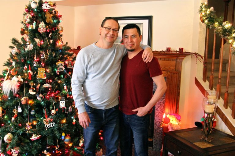 Paul Frame (left) and his husband Jose