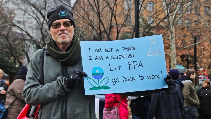 Garth Connor works for the Philadelphia office of the EPA and worries about pollution going unchecked, and paying his daughter's college tuition. (Kimberly Paynter/WHYY)