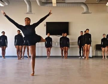 Students at String Theory charter school dance an original choreography during a tribute to Martin Luther King Jr.