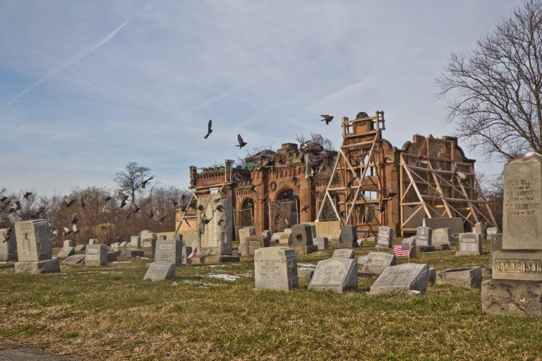 Mt. Moriah Cemetery in Southwest Philadelphia in January 2019. (Kimberly Paynter/WHYY)