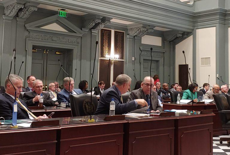 Delaware legislators advance a measure allowing liquor sales at a planned basketball stadium. (Zoe Read/WHYY)