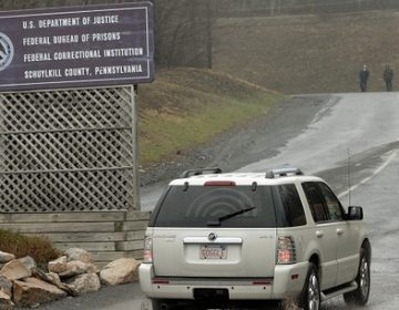 In this file photo, an SUV arrives at the Federal Correctional Institution - Schuylkill in Minersville, Pa. (Bradley C Bower/AP Photo)