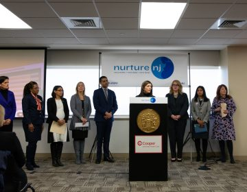 First Lady Tammy Murphy launches Nurture NJ, a maternal and infant health awareness campaign, on January 23, 2019, at Cooper University Hospital in Camden. (Edwin J. Torres/Governor's Office)