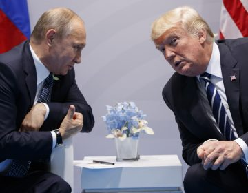 U.S. President Donald Trump meets with Russian President Vladimir Putin at the G-20 Summit, Friday, July 7, 2017, in Hamburg. Trump and Putin met for more than two hours. (AP Photo/Evan Vucci)