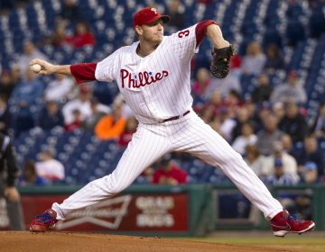 In September 2013, Philadelphia Phillies starting pitcher Roy Halladay delivers against the Miami Marlins. The All-Star ace and fan favorite has been elected to the Baseball Hall of Fame.  (AP Photo/Chris Szagola, File)