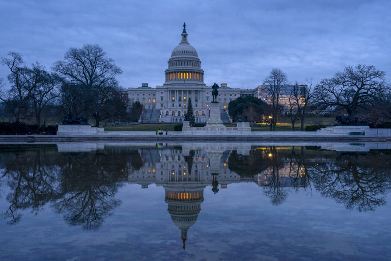 The Capitol is seen under early morning skies in Washington, Thursday, Dec. 20, 2018. (J. Scott Applewhite/AP Photo)