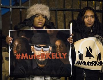 #MuteRKelly supporters protest outside R. Kelly's studio, Wednesday, Jan. 9, 2019 in Chicago. Lifetime's