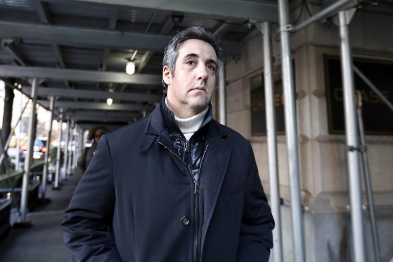 In this Dec. 7, 2018 file photo, Michael Cohen, former lawyer to President Donald Trump, leaves his apartment building in New York. (Richard Drew/AP Photo, File)