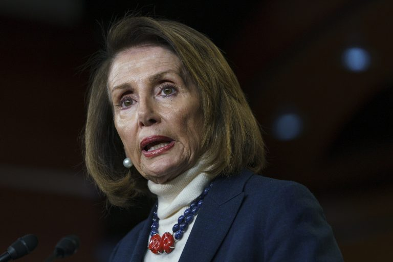 House Speaker Nancy Pelosi of Calif., speaks during a news conference on Capitol Hill in Washington, Thursday, Jan. 17, 2019. (Carolyn Kaster/AP Photo)