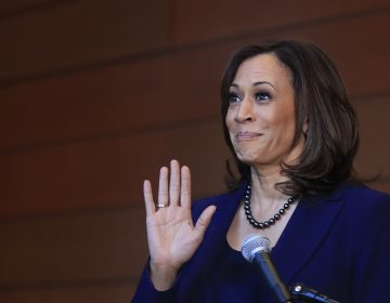 Sen. Kamala Harris, D-Calif., speaks to members of the media at her alma mater, Howard University, Monday, Jan. 21, 2019 in Washington, following her announcement earlier in the morning that she will run for president. Harris, a first-term senator and former California attorney general known for her rigorous questioning of President Donald Trump's nominees, entered the Democratic presidential race on Monday. Vowing to